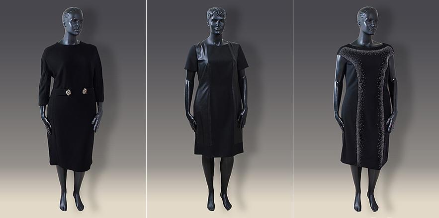 Чорні сукні футляр великого розміру від Barbara Schwarzer 7f3b22d1f01b4