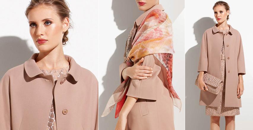 Красиве бежеве пальто з колекції сезону весна 2015 від бренду Cinzia Rocca 63ef4c3933643