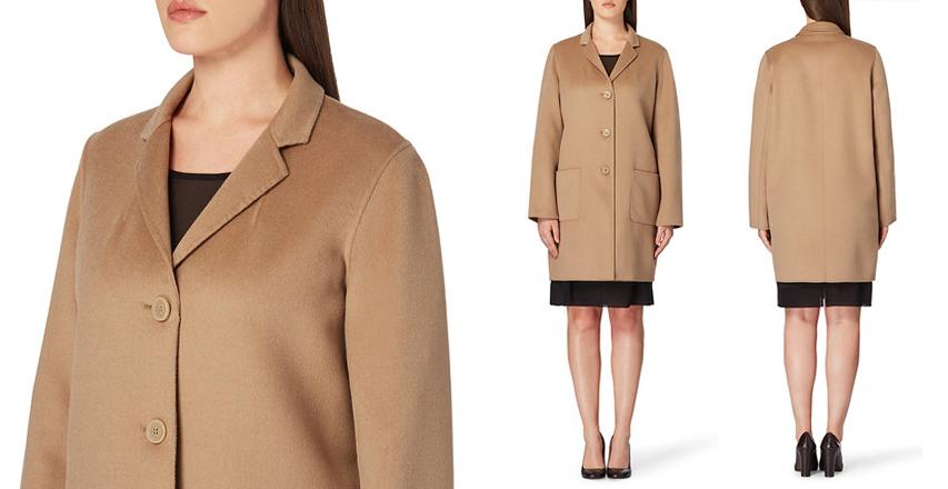 Класичне бежеве пальто великого розміру від бренду Persona 378a716341028