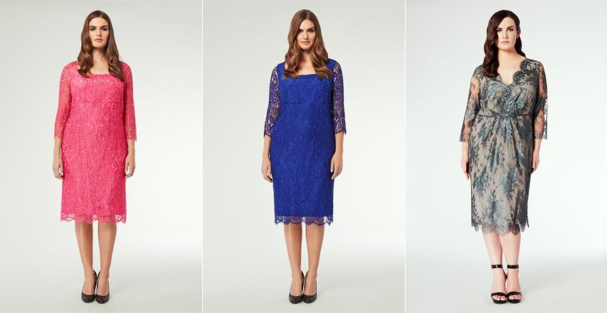 Яскраві мереживні сукні великих розмірів 79d3590216a44