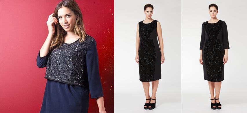 Плаття на повну фігуру з паєтками від бренду Persona by Marina Rinaldi 214a7bd294e77