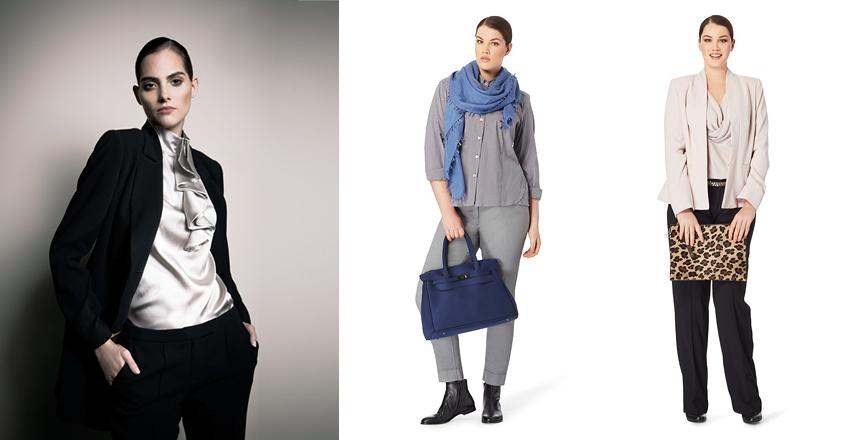 Блузки великих розмірів осінь-зима 2014 2015 від брендів Barbara Schwarzer  і Persona 677b1e4e3495f