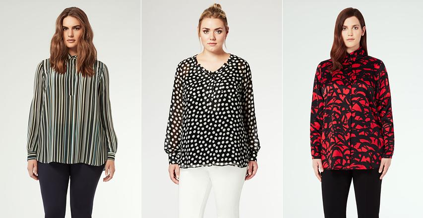 Модні блузки великих розмірів осінь-зима 2014 2015 від Marina Rinaldi 3379fa2178c40