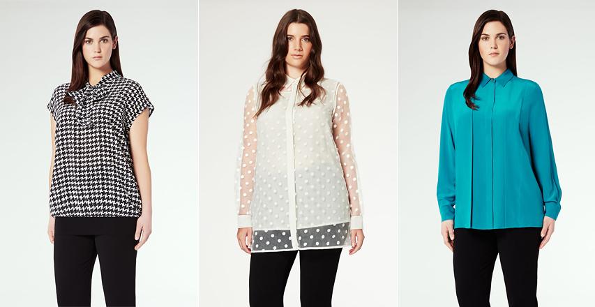 Красиві блузки великих розмірів від Marina Rinaldi c5ca0c46f4642