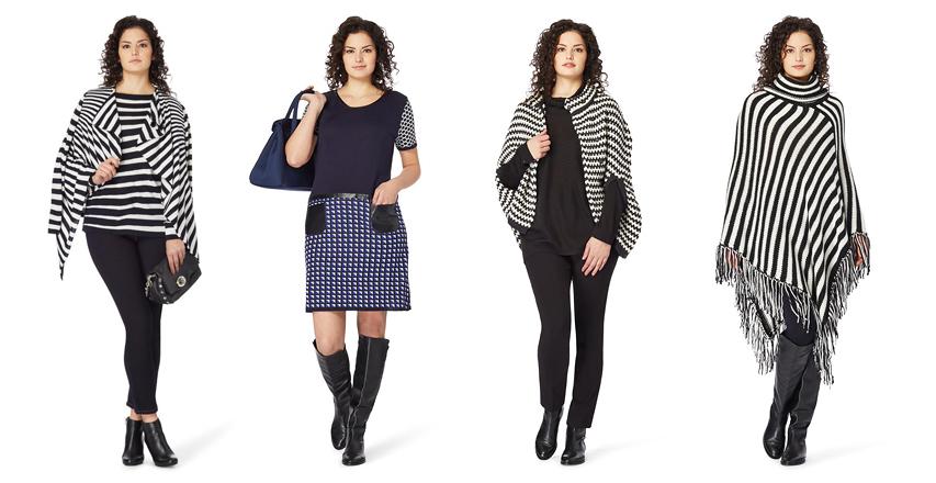Красивий одяг великих розмірів з геометричними принтами від Persona 03856fc3b561a