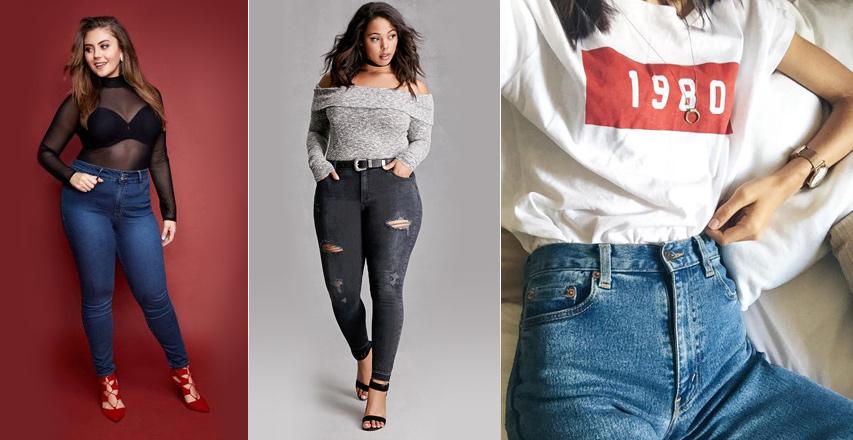 Модні жіночі джинси великих розмірів сезону осінь-зима 2016-2017 7bbc6561b70b7
