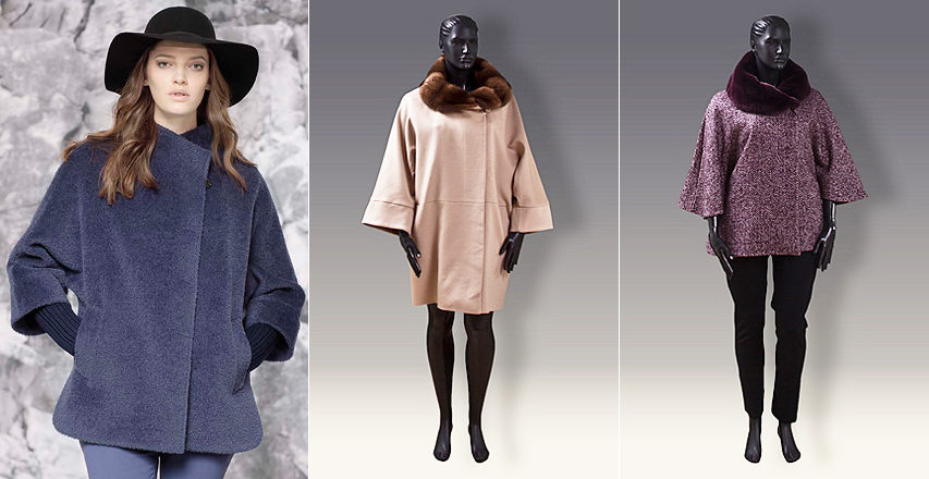 Модні фасони пальто великих розмірів від Cinzia Rocca 5768e199aa955