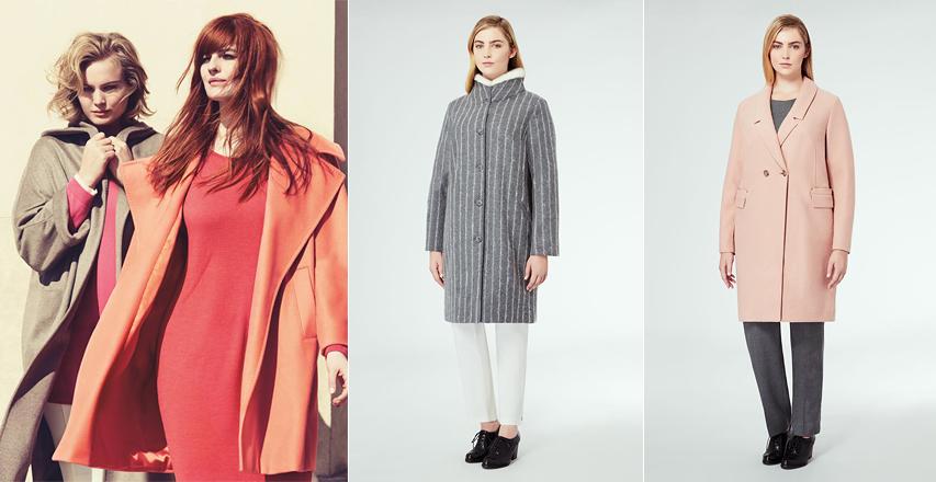 Жіночі пальто великих розмірів модних кольорів від Marina Rinaldi c810196a644c1