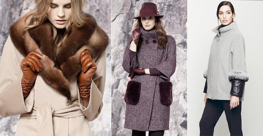 Жіночі пальто з обробкою з хутра від Cinzia Rocca і Giorgio Grati 6e9f5cdc6f584